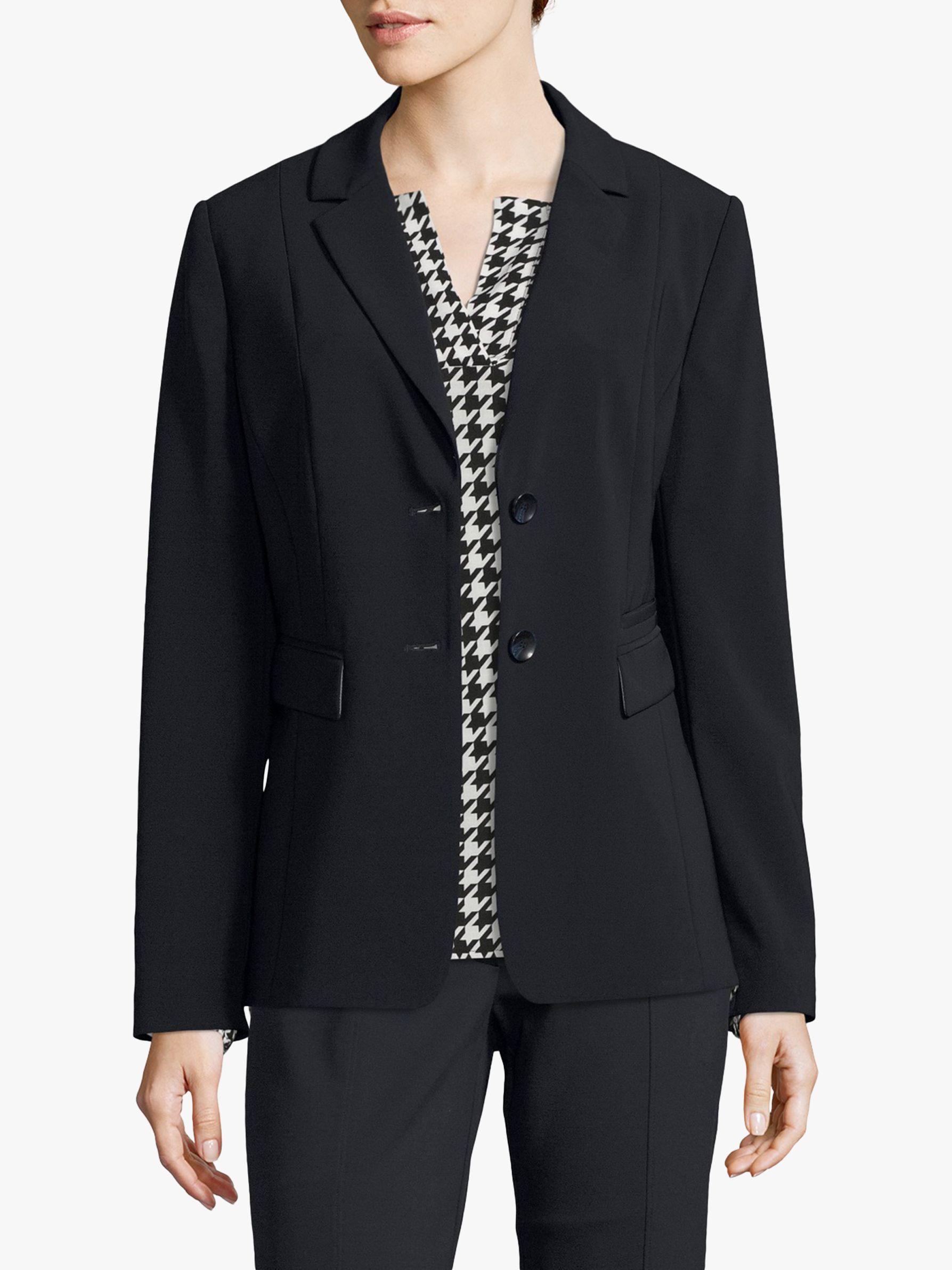 Betty Barclay Betty Barclay Tailored Crepe Jacket, Dark Sky