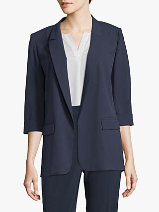 Betty Barclay Crepe Boyfriend Blazer, Dark Sky