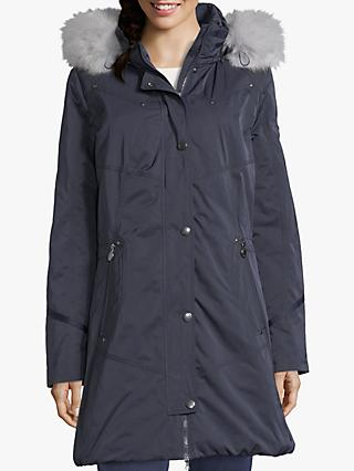 Betty Barclay Quilted Hooded Coat, Navy