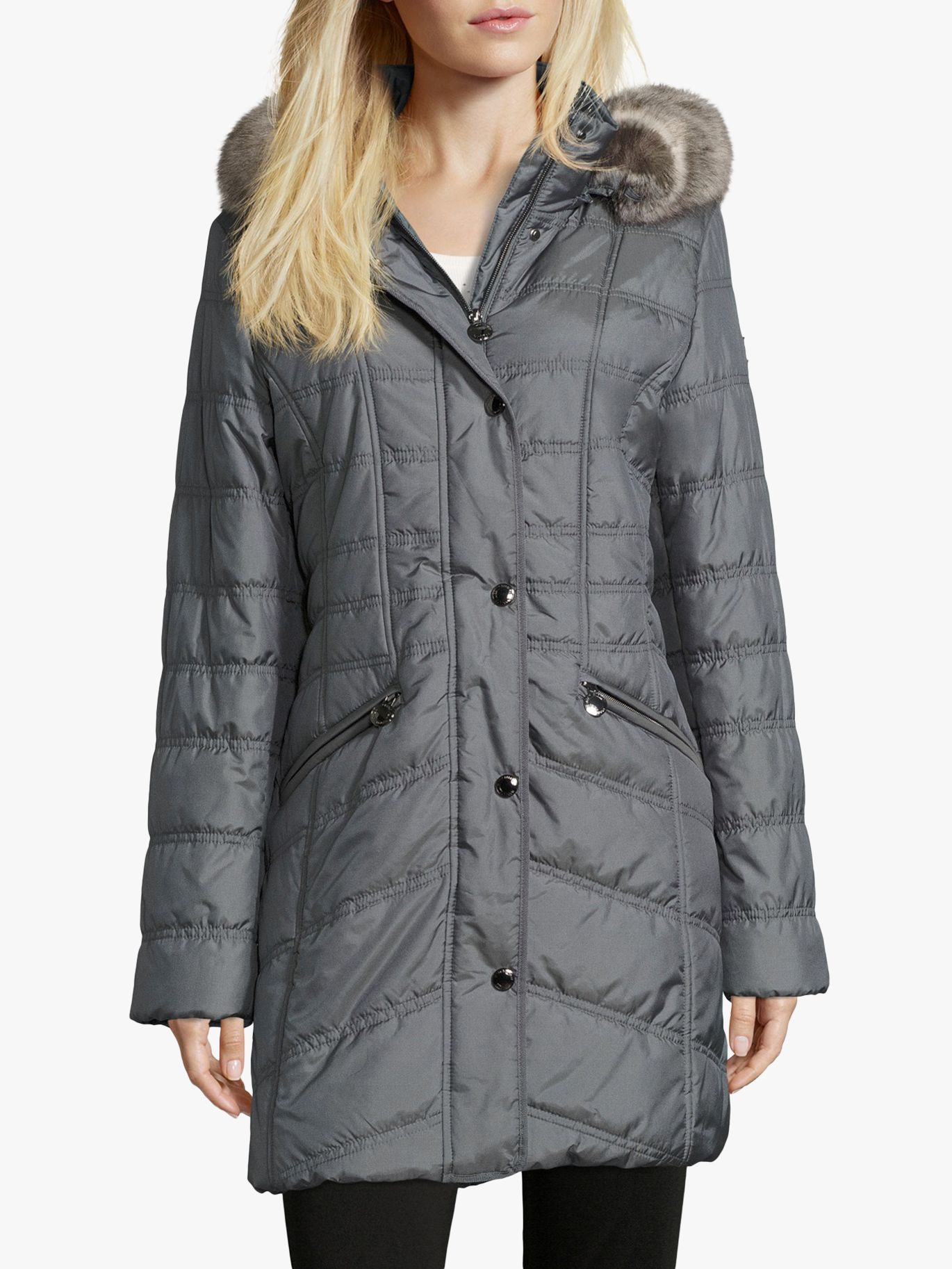 Betty Barclay Betty Barclay Quilted Hooded Coat