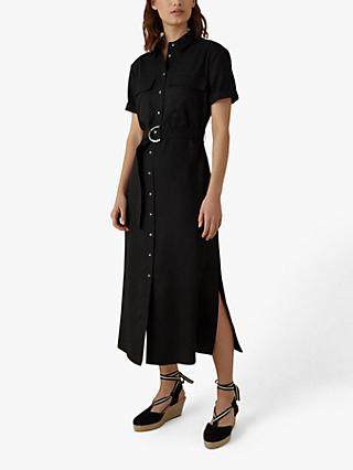 Karen Millen Utility Shirt Dress, Black