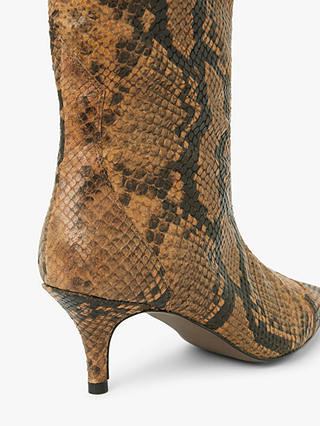 Buy AND/OR Viola Leather Snake Print Stiletto Knee High Boots, Tan, 4 Online at johnlewis.com