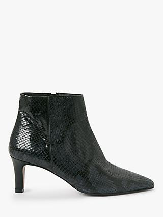 AND/OR Orela Leather Ankle Boots, Blue Reptile