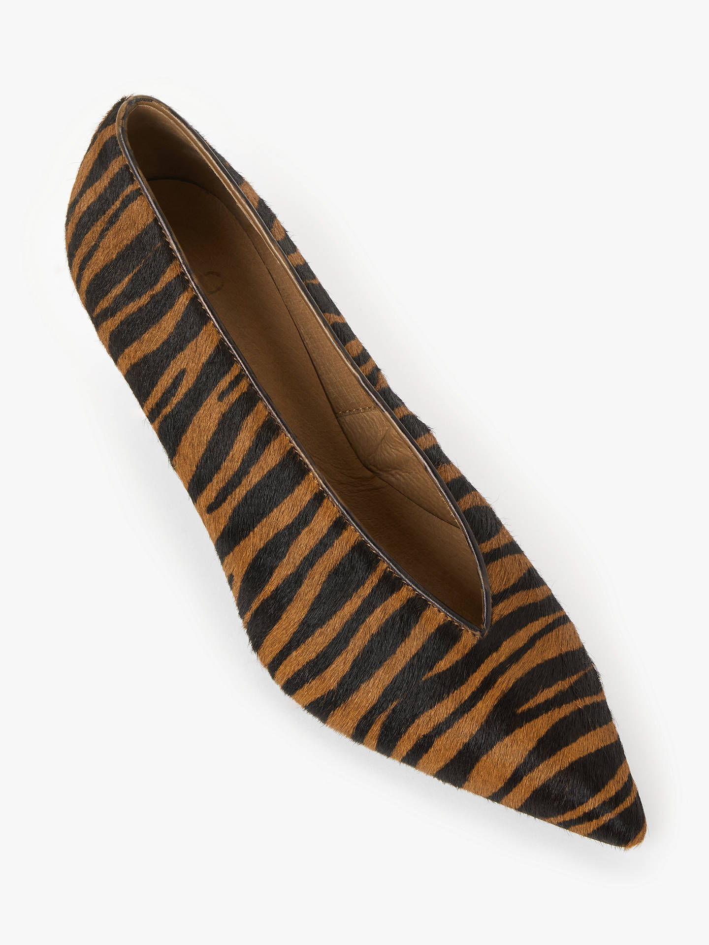 Buy AND/OR Avolene Kitten Heel Court Shoes, Tiger Print, 4 Online at johnlewis.com