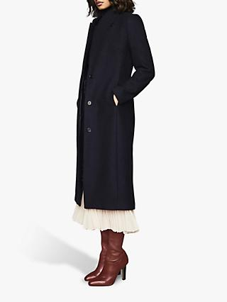 Reiss Mason Long High Collar Coat