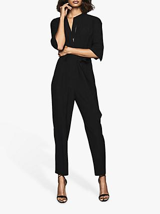 Reiss Freya Utility Jumpsuit, Black