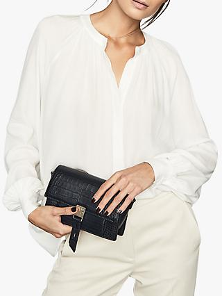 Reiss Gwen Pleat Detail Blouse