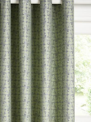 Orla Kiely Acorn Cup Pair Lined Eyelet Curtains, Duck Egg