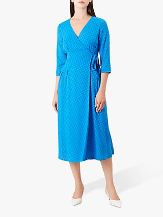 Hobbs Cassie Wrap Dress, Cobalt