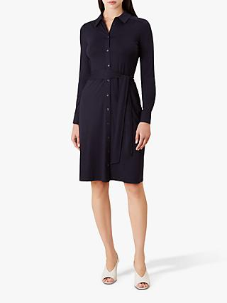 Hobbs Sandrine Dress, Navy