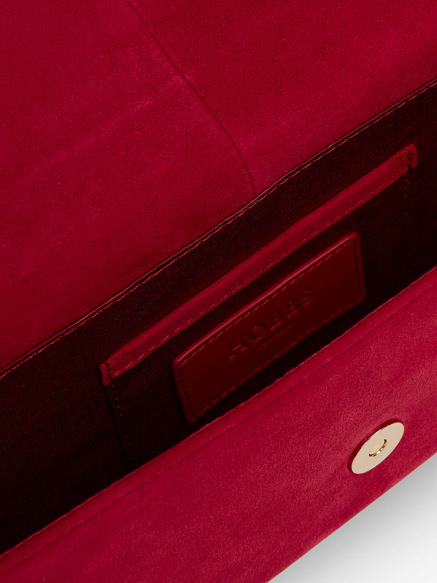 Buy Hobbs Sarah Leather Clutch, Berry Online at johnlewis.com