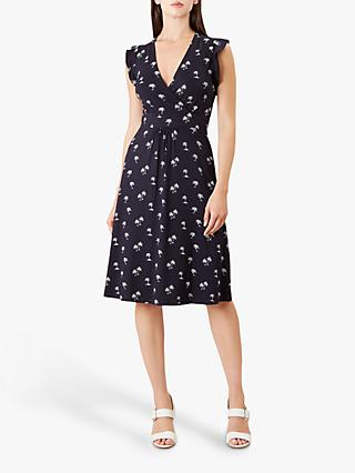 Hobbs Penelope Dress, Navy/White