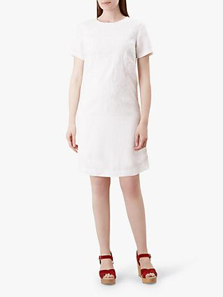 Hobbs Eleni Linen Dress, White