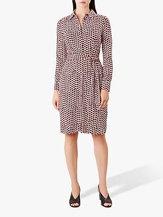 Hobbs Sandrine Dress, Ivory/Multi