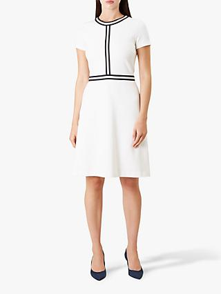 Hobbs Delia Dress, Ivory/Navy