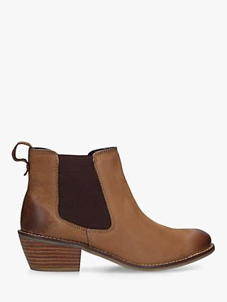 Carvela Comfort Rink Western Style Leather Ankle Boots, Brown