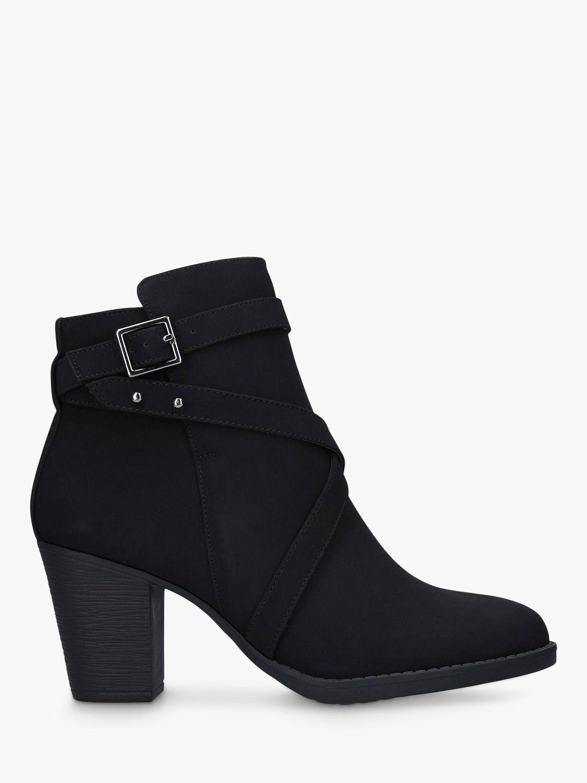 Carvela Comfort Carvela Comfort Tara Block Heel Ankle Boots, Black