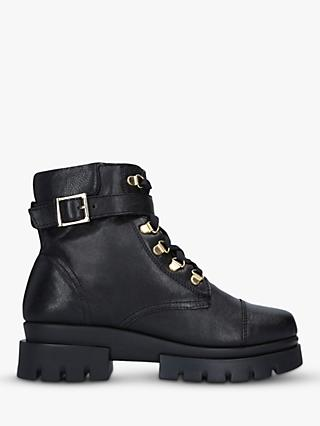 Carvela Comfort Run Leather Hiker Boots, Black