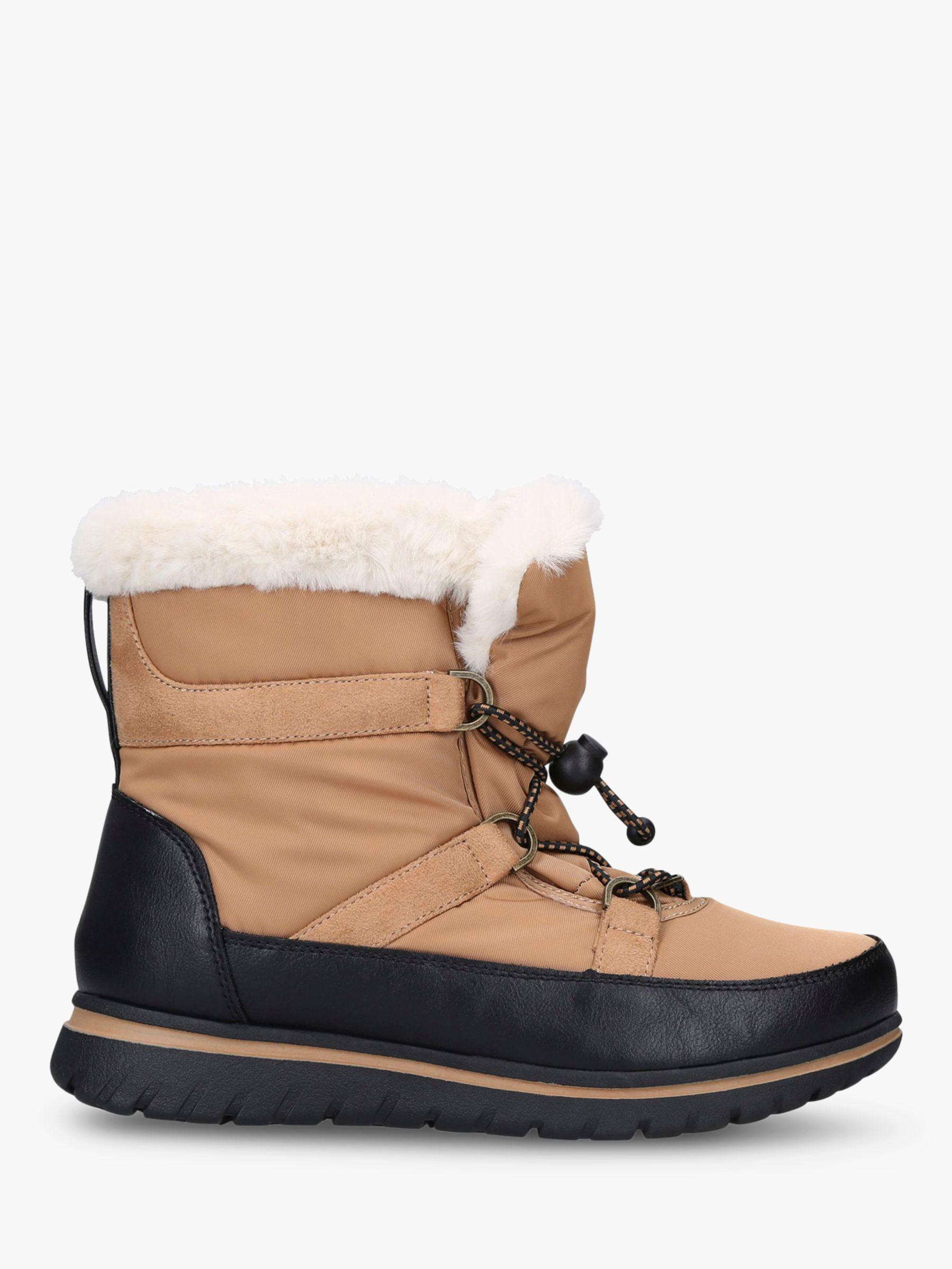 Carvela Comfort Carvela Comfort Ruby Drawstring Snow Boots, Brown Tan