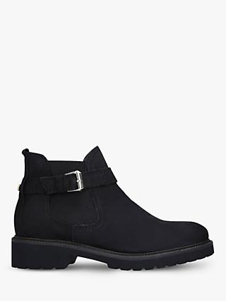 Carvela Comfort Radiant Leather Ankle Boots, Black