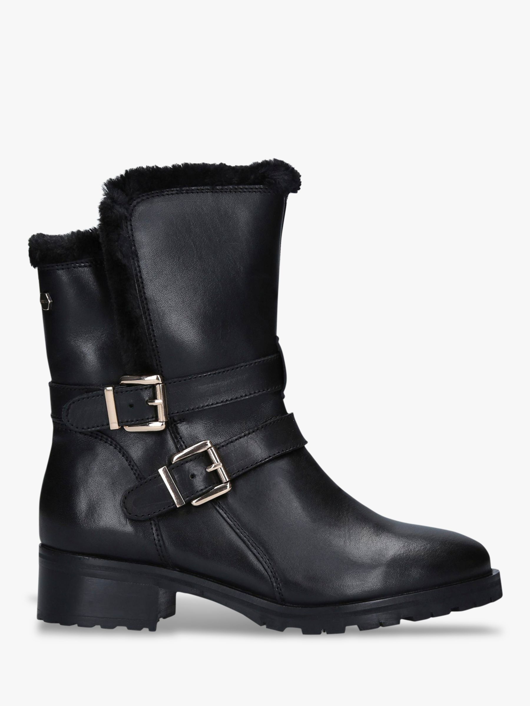 Carvela Comfort Carvela Comfort Roxi Buckle Detail Leather Ankle Boots, Black