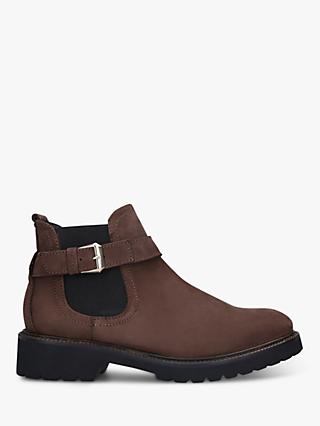 Carvela Comfort Radiant Leather Ankle Boots, Brown