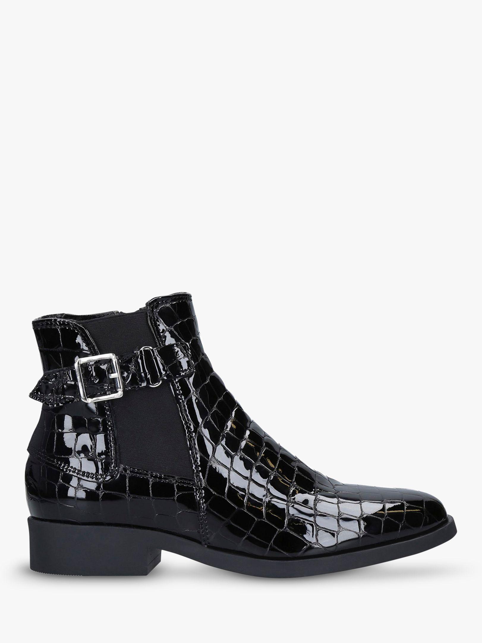 Carvela Comfort Carvela Comfort Rich Croc Effect Ankle Boots, Black