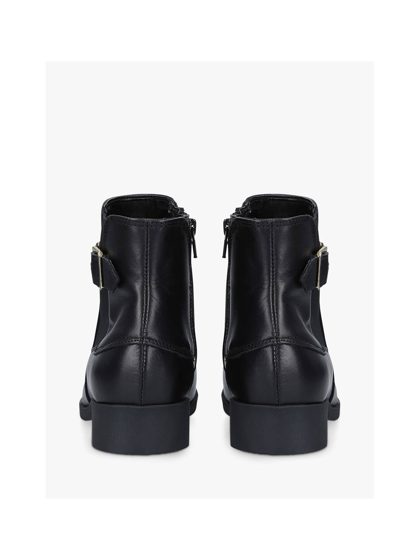 Buy Carvela Comfort Rich Leather Ankle Boots, Black, 3 Online at johnlewis.com