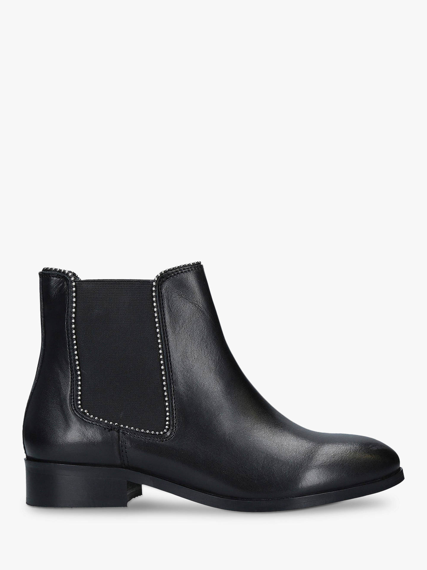 Carvela Sphere Leather Stud Detail Boots, Black by Carvela