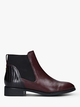 Carvela Stifle Leather Chelsea Boots, Wine