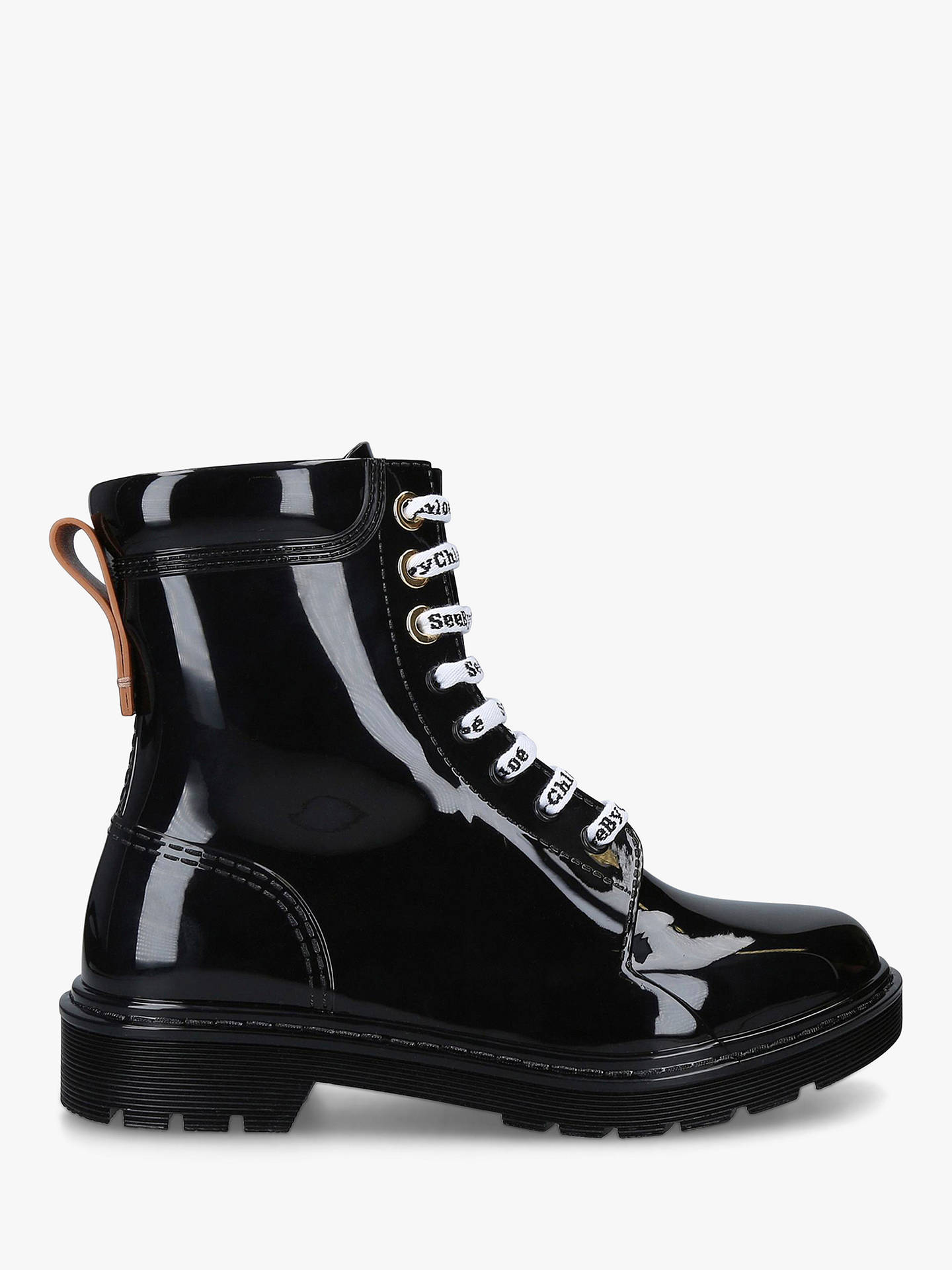 df375c47 See By Chloé PVC Combat Boots, Black