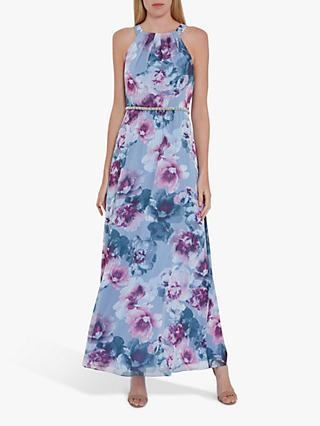 Gina Bacconi Kinia Beaded Waist Maxi Dress, Multi