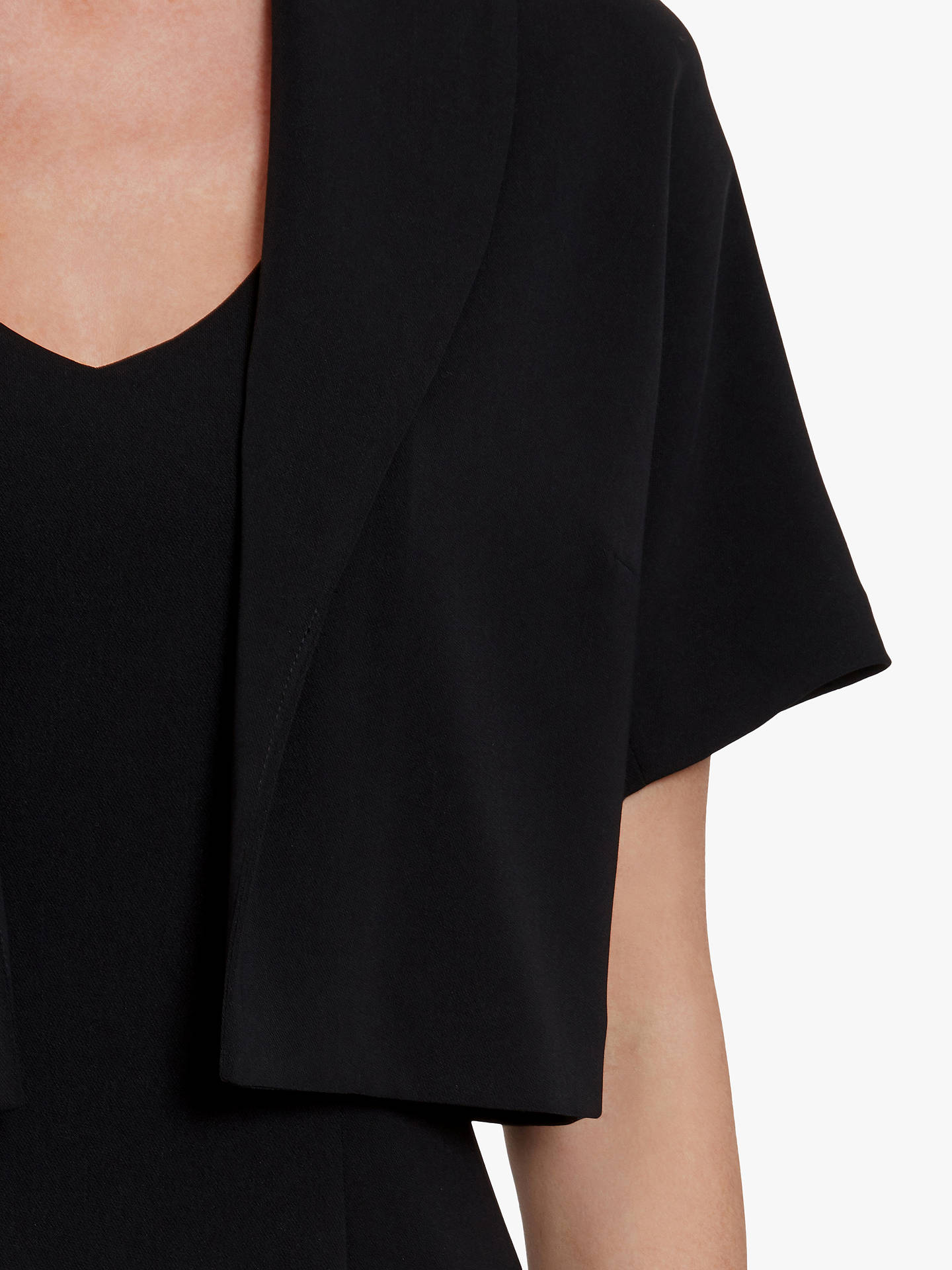 Buy Gina Bacconi Alma Moss Crepe Bolero, Black, 10 Online at johnlewis.com