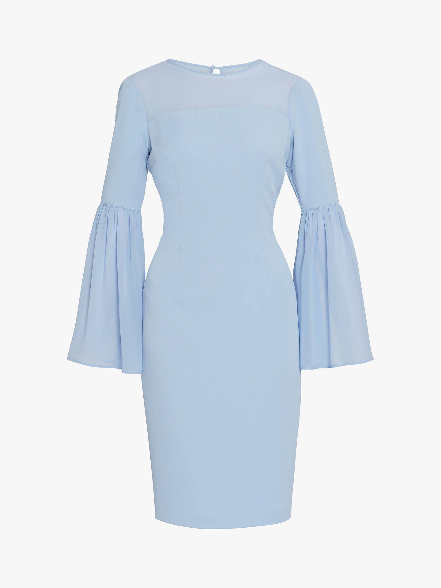 Buy Gina Bacconi Crisiant Moss Crepe Dress, Nordic Blue, 10 Online at johnlewis.com