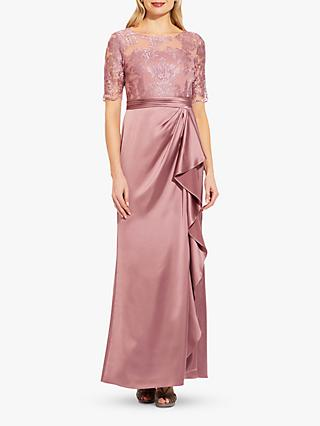 Adrianna Papell Embroidered Maxi Gown, Rose