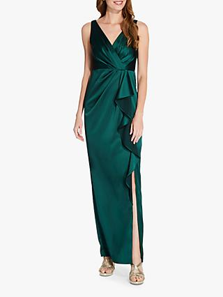 Adrianna Papell Draped Maxi Gown, Forest