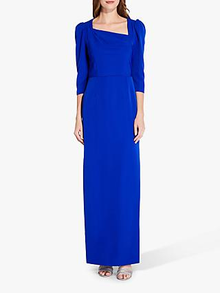 Adrianna Papell Asymmetrical Neckline Gown, Royal Sapphire