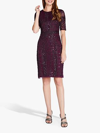 Adrianna Papell Beaded Dress, Red