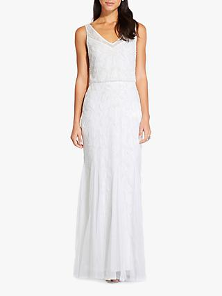 Adrianna Papell Beaded Maxi Dress, Ivory