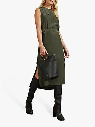 Ted Baker Dohly Utility Dress, Khaki