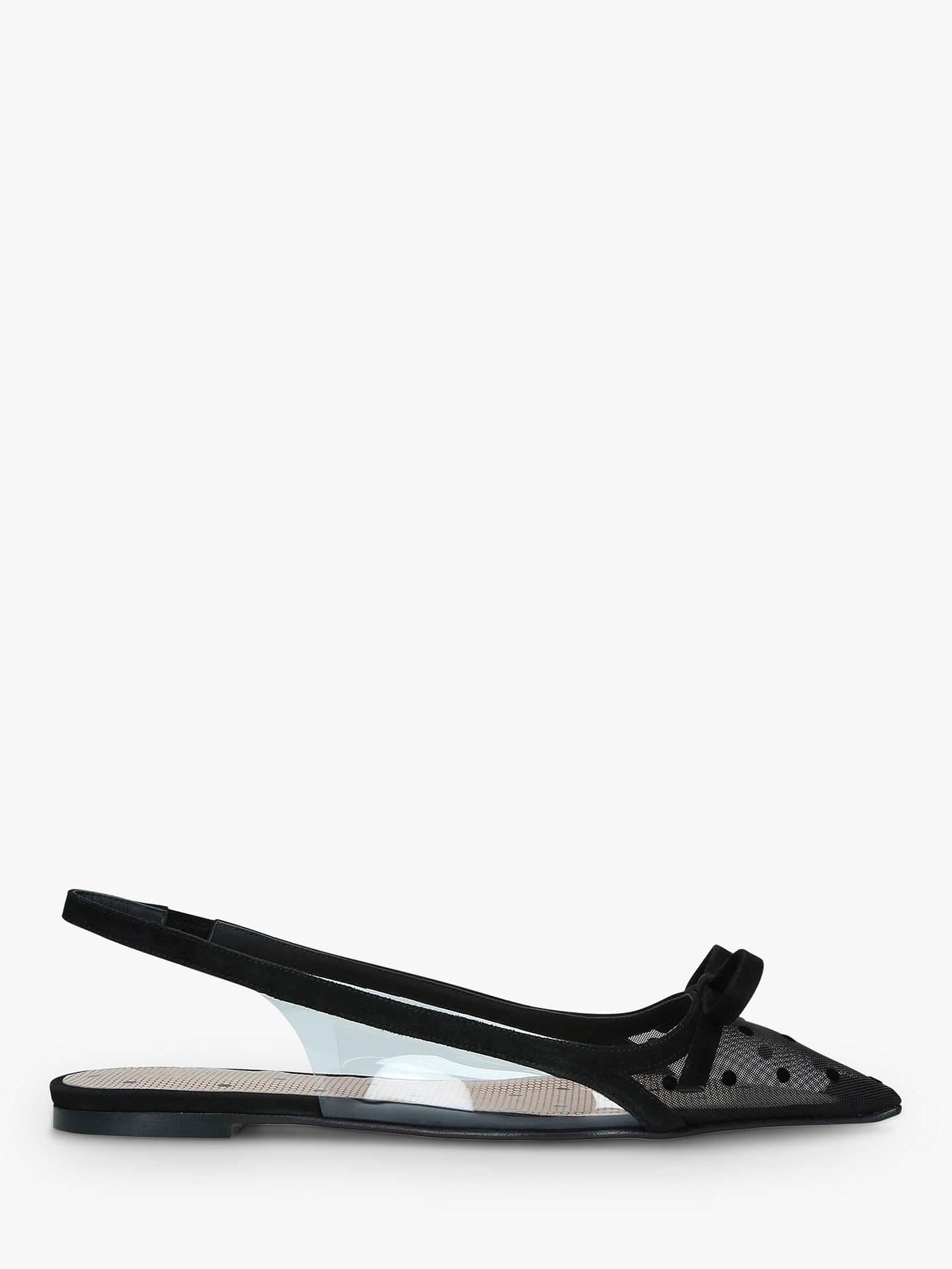 e25569dabcb17 Buy RED Valentino Plexi Slingback Pumps, Black, 3 Online at johnlewis.com  ...