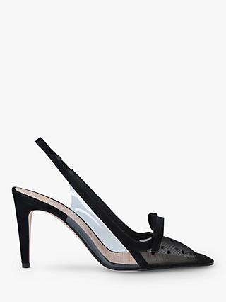 RED Valentino Plexi85 Slingback Court Shoes, Black