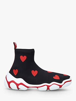 RED Valentino Hi Sock Heart Detail Trainers, Red/Black