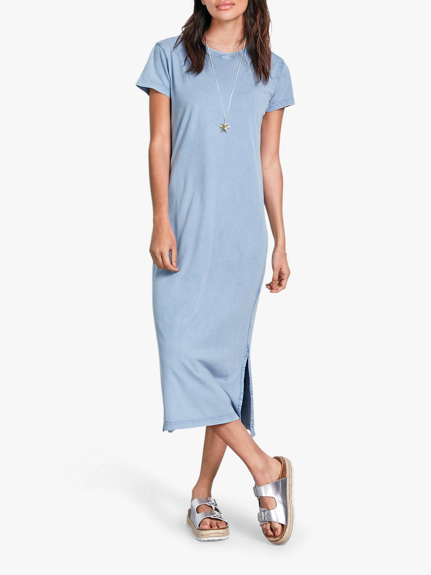 49a47460a9 hush Washed T-Shirt Dress, Cornflower Blue