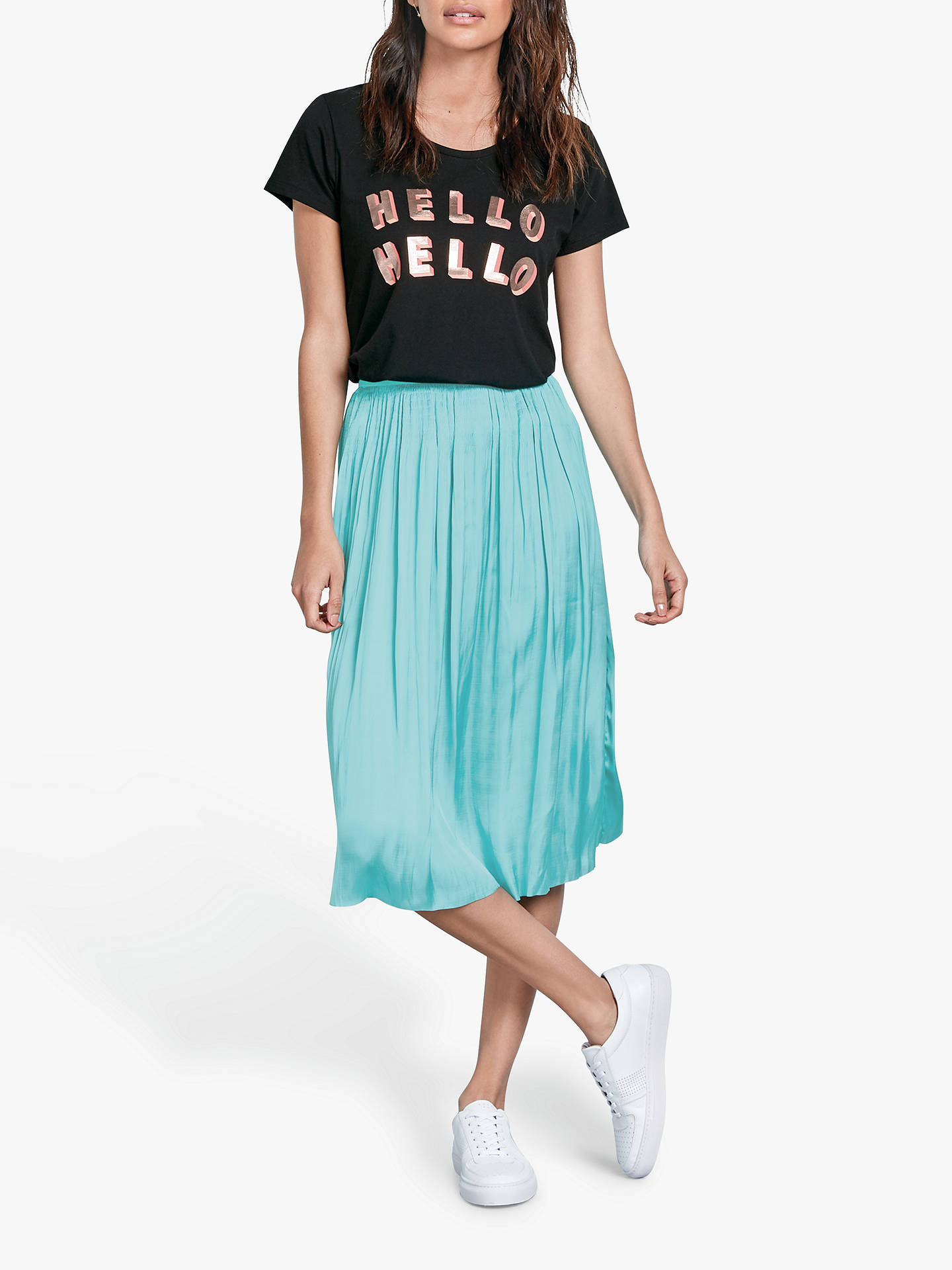 60% clearance shop best sellers vast selection hush Sheila Pleated Midi Skirt, Blue Turquoise at John Lewis ...