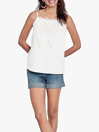 hush Ambra Lace Cami Top, White