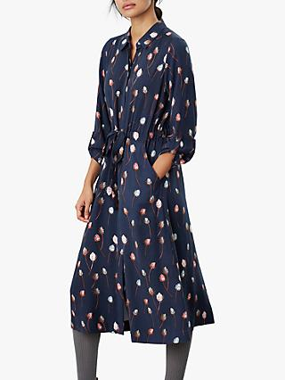Joules Briony Long Sleeve Shirt Dress, Teasel