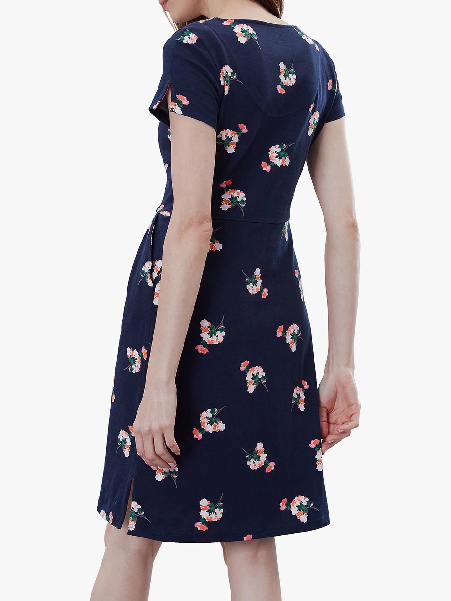 Buy Joules Laurie Floral Dress, Navy Posy, 6 Online at johnlewis.com