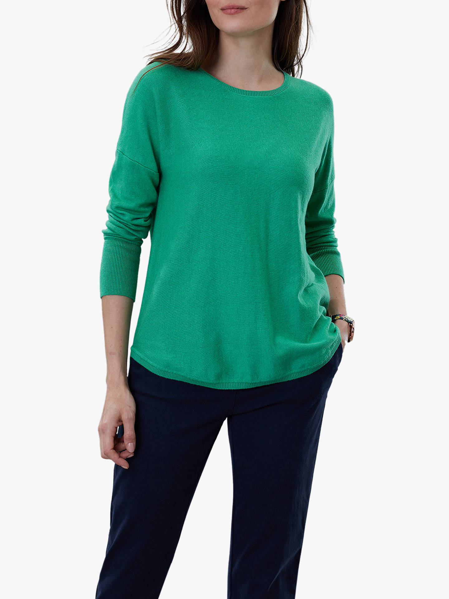 Buy Joules Poppy Cotton Round Neck Jumper, Green Spruce, 12 Online at johnlewis.com