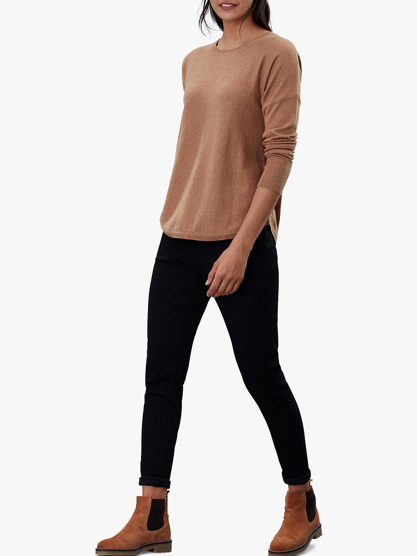 Buy Joules Poppy Cotton Round Neck Jumper, Tan, 12 Online at johnlewis.com